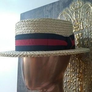 Other - Straw Patriotic Skimmer Hat